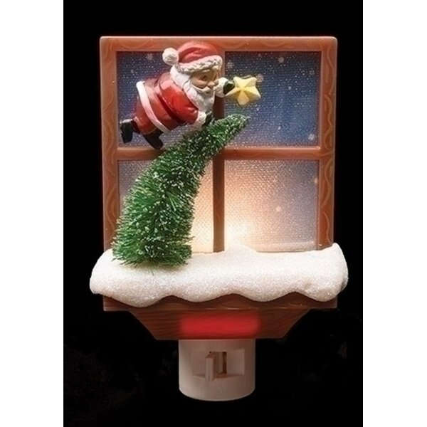 Santa Claus with Tree Decorative Christmas Night Light by Northlight Seasonal