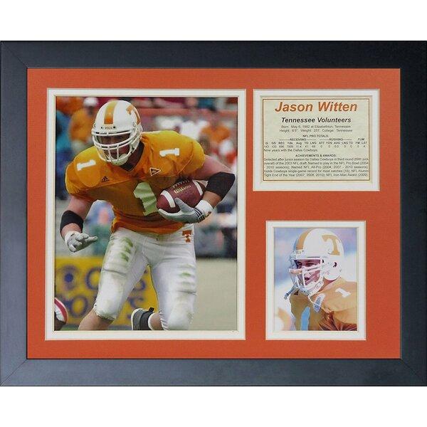 Jason Witten - Tennessee Framed Memorabilia by Legends Never Die