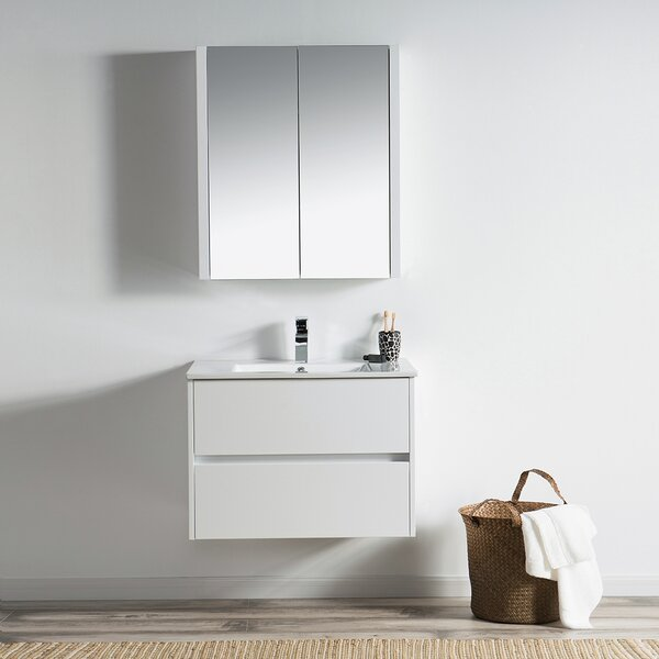 Oquendo 30 Wall-Mounted Single Bathroom Vanity Set with Medicine Cabinet by Orren Ellis