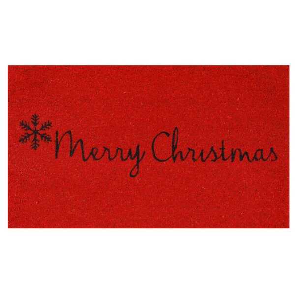 Merry Christmas Doormat by The Holiday Aisle