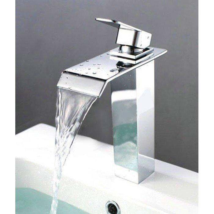 Kokols Single Hole Waterfall Vessel Sink Faucet & Reviews   Wayfair