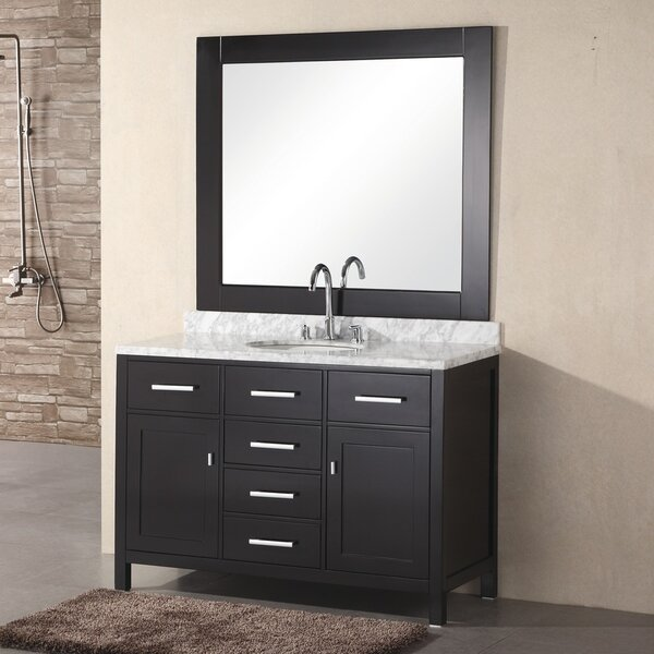 Middletown 48 Single Vanity Set with Mirror by Andover Mills