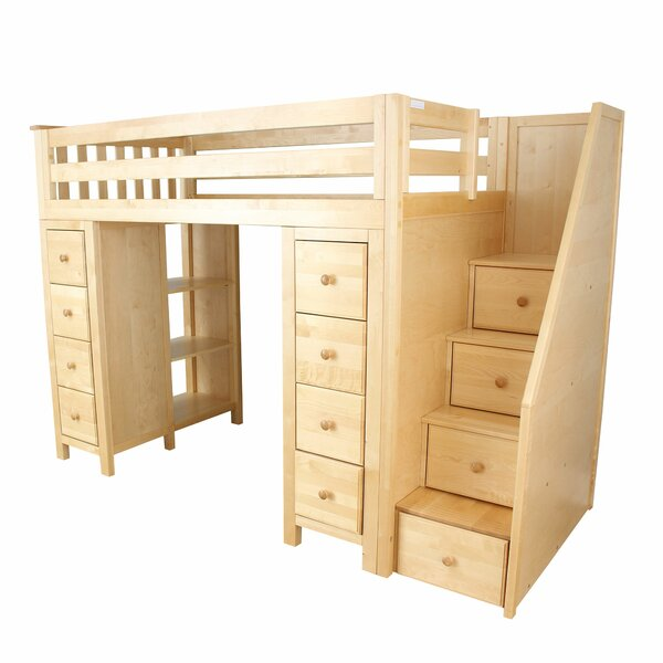 Ayres Twin Loft Bed with Staircase by Harriet Bee