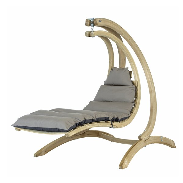 Camila Lounger Porch Swing with Stand by Rosecliff Heights Rosecliff Heights