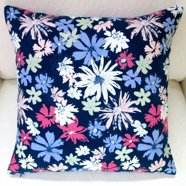 Ink Outburst Flowers Indoor Throw Pillow by Artisan Pillows