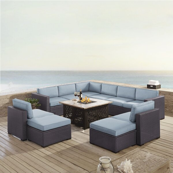 Lawson 8 Piece Sectional Seating Group with Cushions by Birch Lane™ Heritage