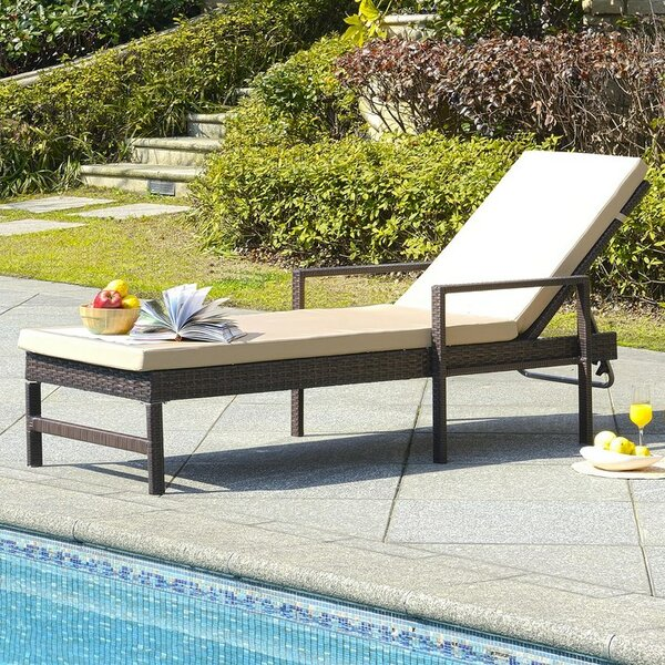 Bourneville Reclining Chaise Lounge With Cushion By Charlton Home
