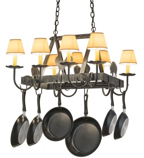 Barn Animals 8 Light Pot Rack by Meyda Tiffany