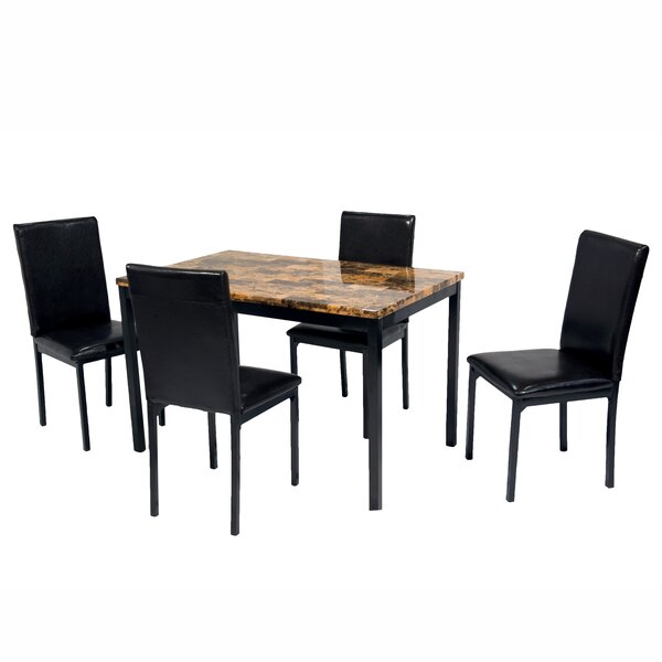 Della 5 Piece Dining Set by Hazelwood Home