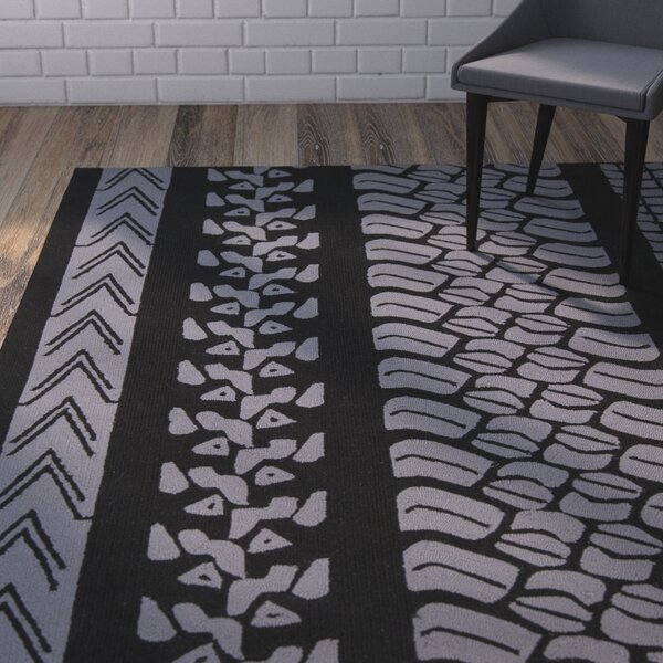 Boles Charcoal/Purple Indoor/Outdoor Area Rug by Brayden Studio