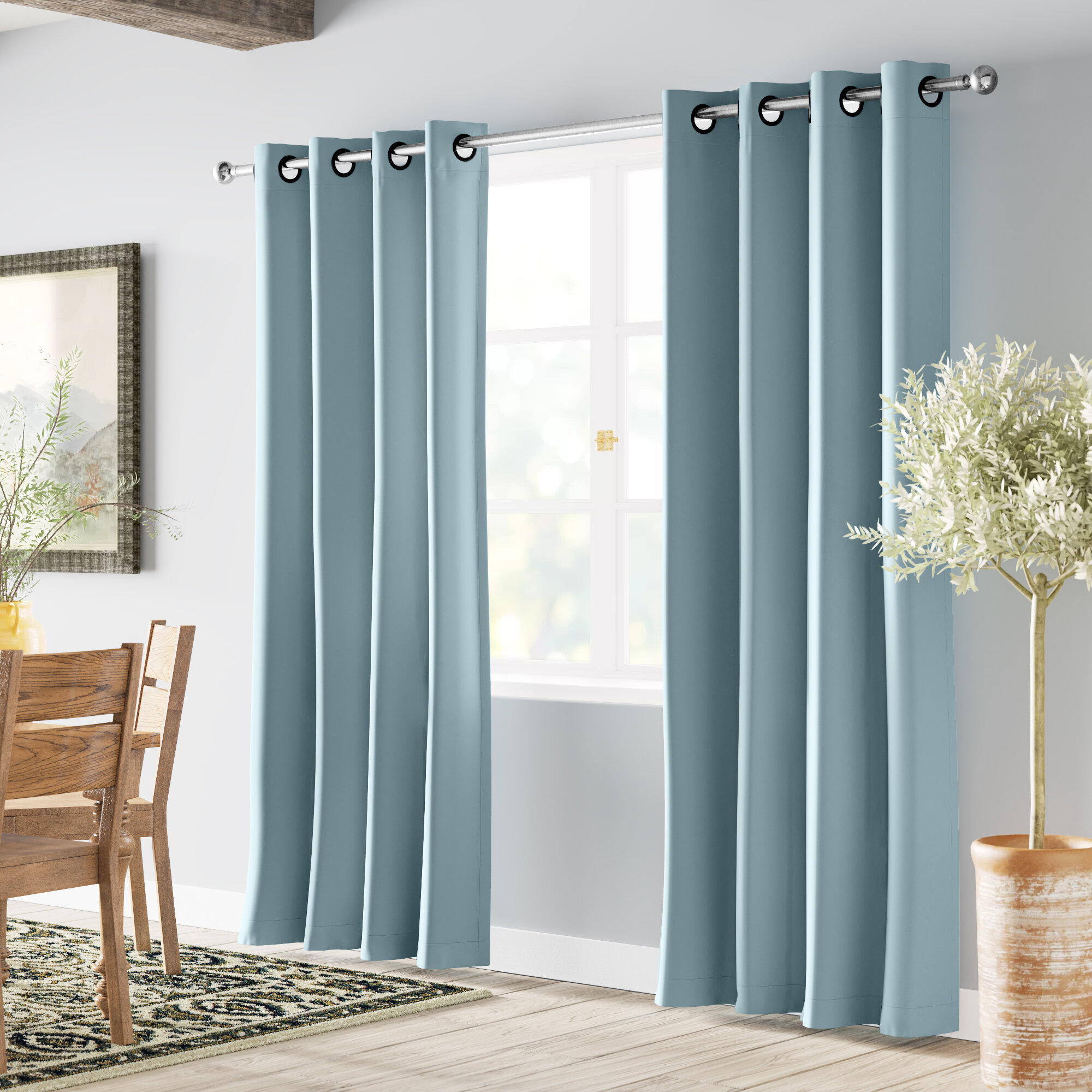 Solid Blackout Thermal Grommet 2 Curtains Ds Reviews