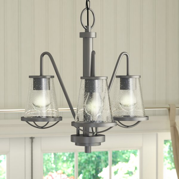 Regan 3 - Light Shaded Classic / Traditional Chandelier by Beachcrest Home Beachcrest Home