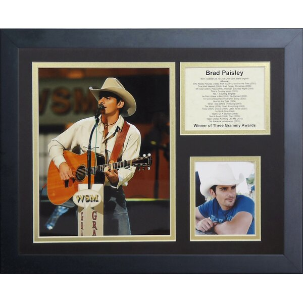 Brad Paisley Framed Memorabilia by Legends Never Die