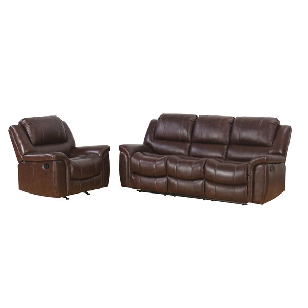 Blackmoor Reclining 2 Piece Leather Living Room Set by Darby Home Co