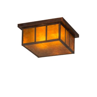 Great Price Almont 2-Light Outdoor Flush Mount By Bloomsbury Market
