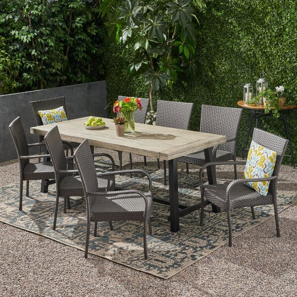 Conatser Outdoor 9 Piece Dining Set by Ivy Bronx