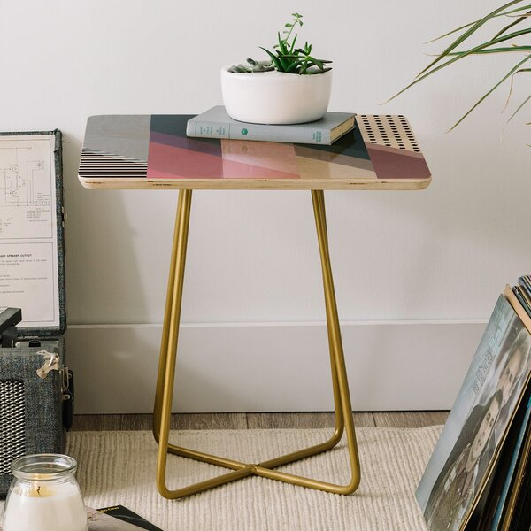 Geometry Blocking 9 End Table by East Urban Home