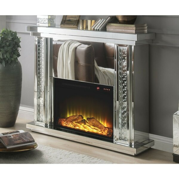 Milo Mirrored Electric Fireplace By Everly Quinn