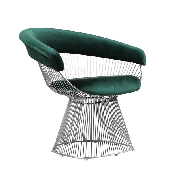Tarver Wire Upholstered Dining Chair by Orren Ellis