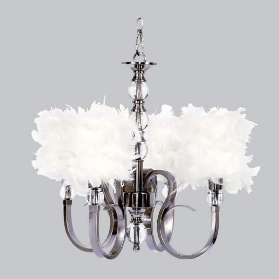 Hampton 4-Light Shaded Chandelier by Jubilee Collection