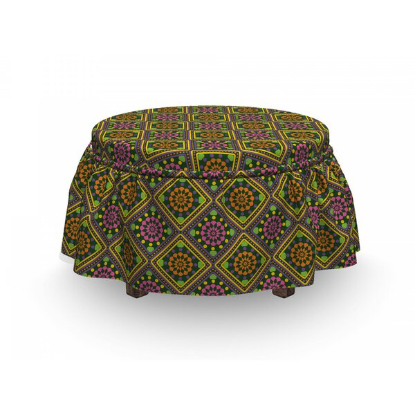 Lively Rhombus-Shape Ottoman Slipcover (Set Of 2) By East Urban Home