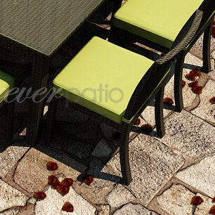 Barbados Patio Dining Side Chair with Cushion by Forever Patio