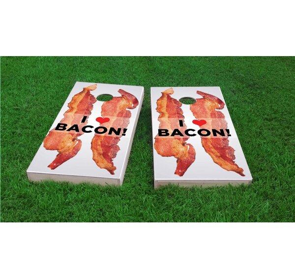 I Love Bacon Light Weight Cornhole Game Set by Custom Cornhole Boards