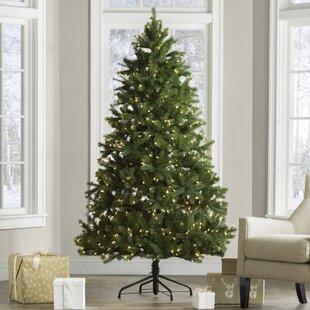 4ft christmas tree with lights led light up downswept douglas 65 prelit christmas trees youll love wayfair