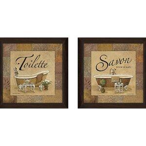 Spice Savon' 2 Piece Framed Graphic Art Print Set Under Glass by Fleur De Lis Living