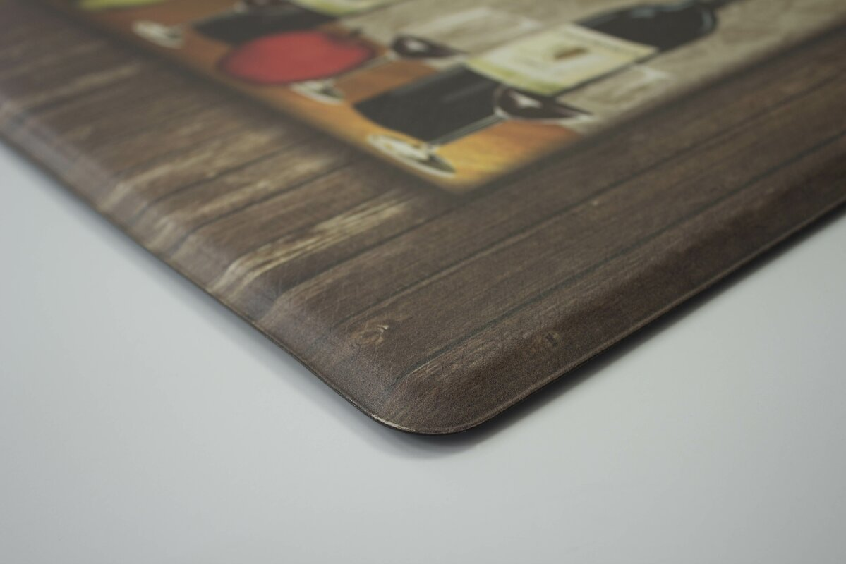 Sophisticated Wine Anti Fatigue Cushioned Chef Kitchen Mat