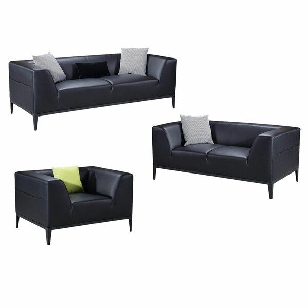 Montano 3 Piece Standard Living Room Set by 17 Stories