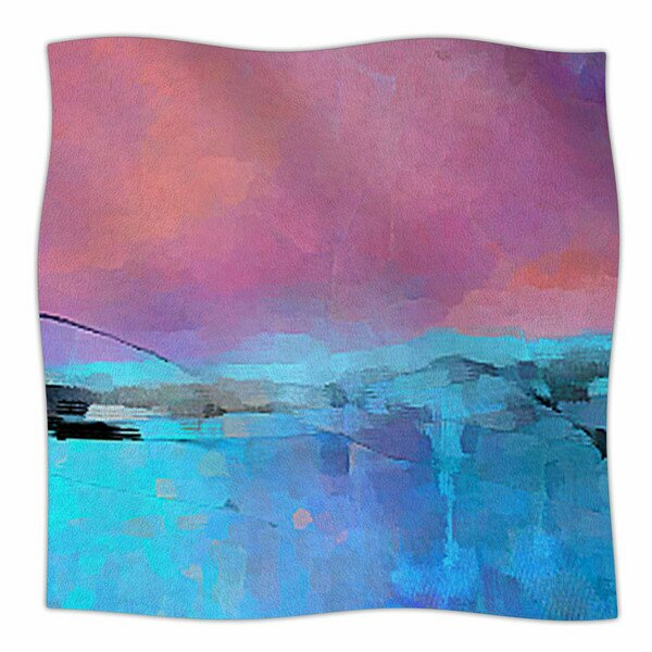 Versailles-Abstract by Oriana Cordero Fleece Blanket by East Urban Home