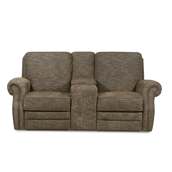 , Tigereye Badlands Walnut Reclining Loveseat by Lane Furniture