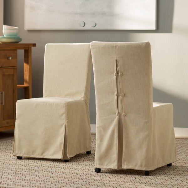 Willa Slipcover Upholstered Dining Chair (Set of 2) by Beachcrest Home