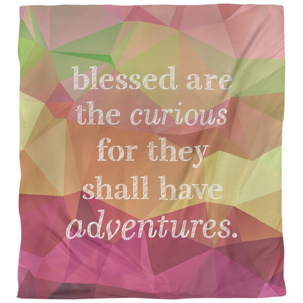 Curiosity Inspirational Quote Single Duvet Cover