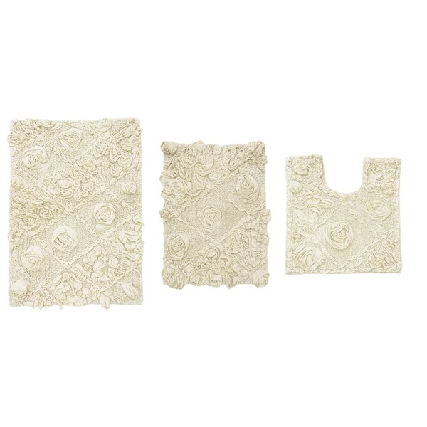 Schoenberger Multiple 100% Cotton piece Bath Rug Set
