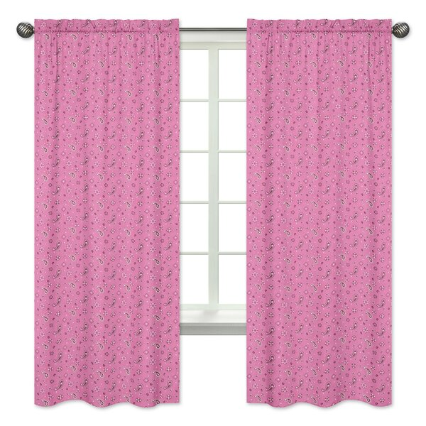 Cowgirl Bandana Window Curtain Panels (Set of 2) by Sweet Jojo Designs