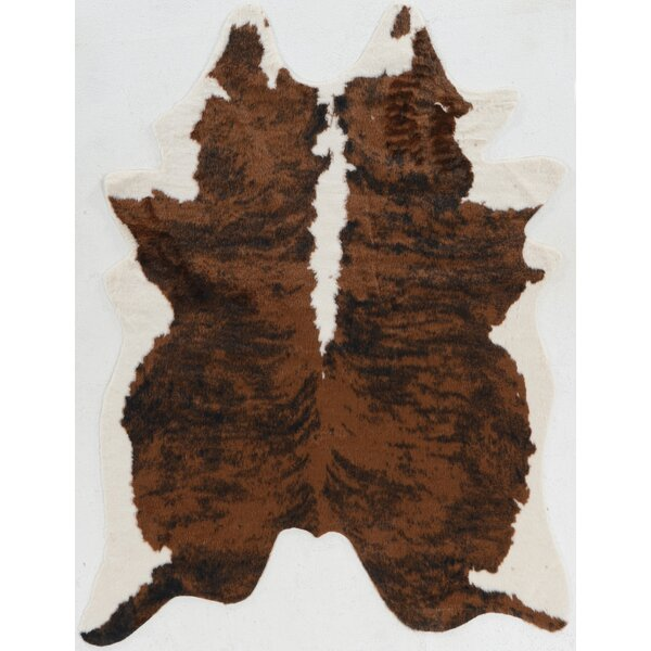 Hand-Tufted Faux Cowhide Brindle Area Rug by Mercury Row