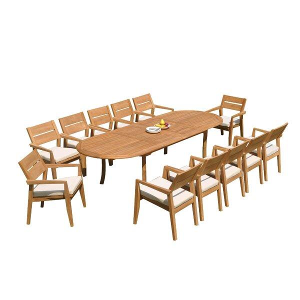 Maston 13 Piece Teak Dining Set by Rosecliff Heights
