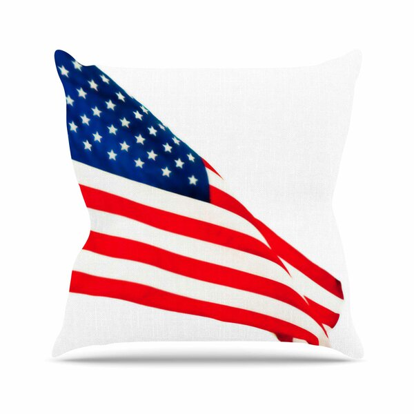 Sylvia Coomes American Flag Holiday Outdoor Throw Pillow by East Urban Home
