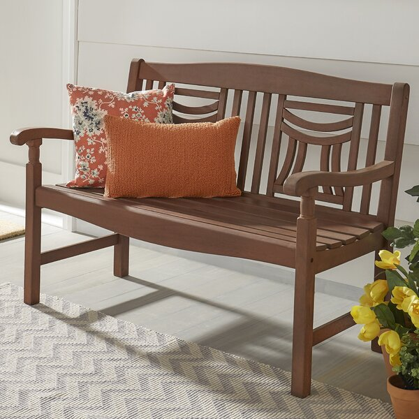 Hursey Wooden Garden Bench by Three Posts