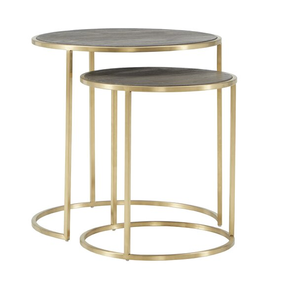 Dupont 2 Piece Nesting Tables By Everly Quinn