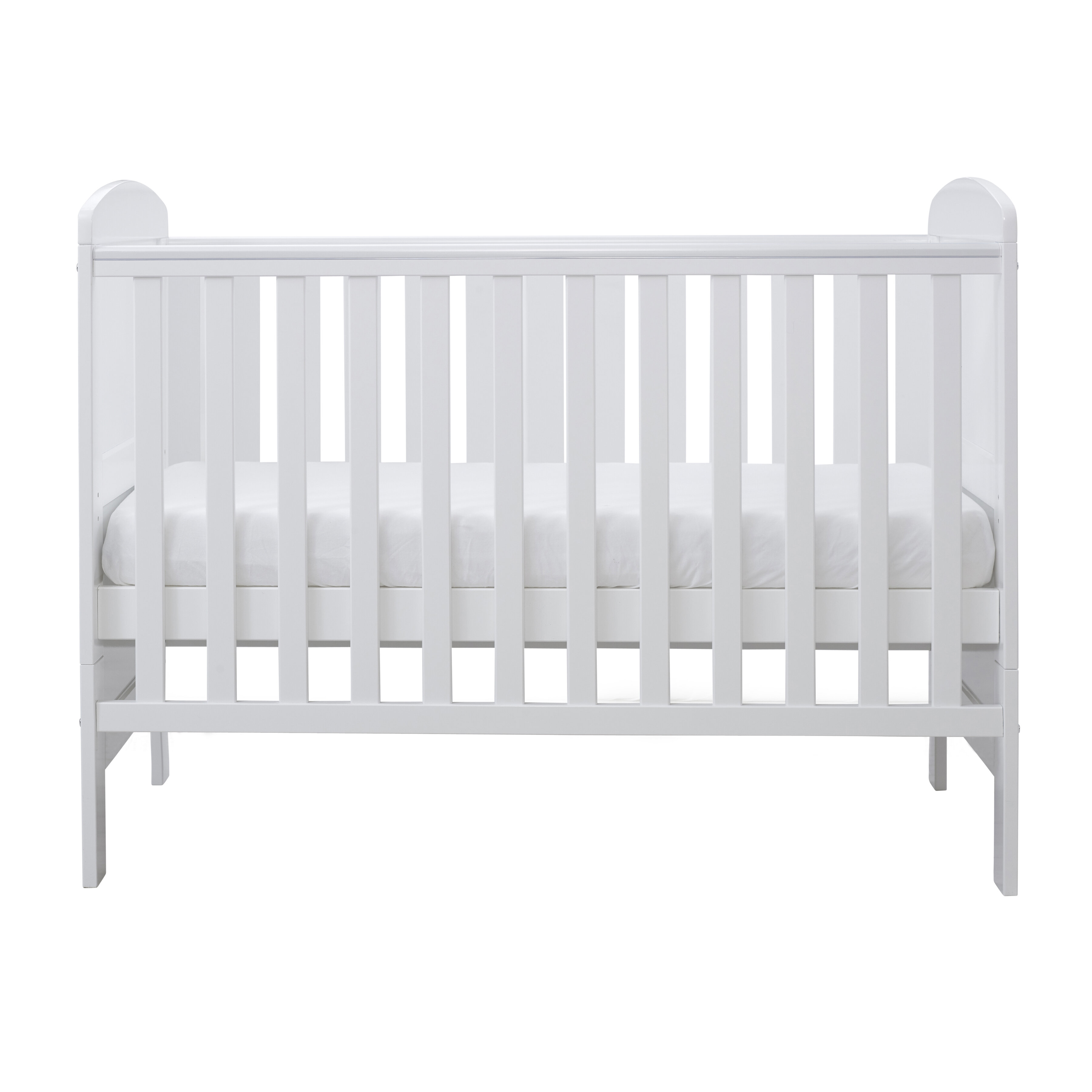 Ickle Bubba Coleby Mini Cot Bed and Under Drawer White