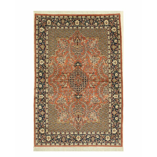 Emet Hand-Knotted Rust Area Rug by Bloomsbury Market