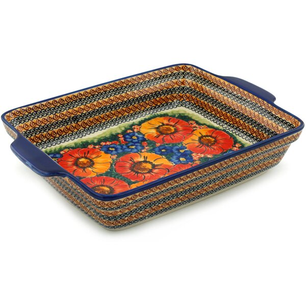 Bright Beauty Rectangular Non-Stick Polish Pottery Baker by Polmedia