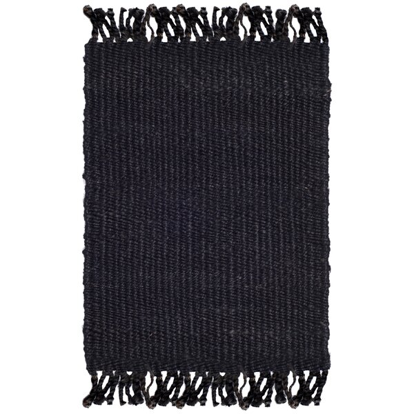 Lookout Fiber Hand-Woven Black Area Rug by Laurel Foundry Modern Farmhouse