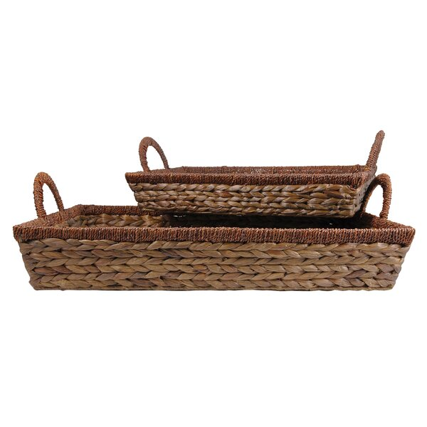 Rectangular 2 Piece Serving Tray by Bay Isle Home