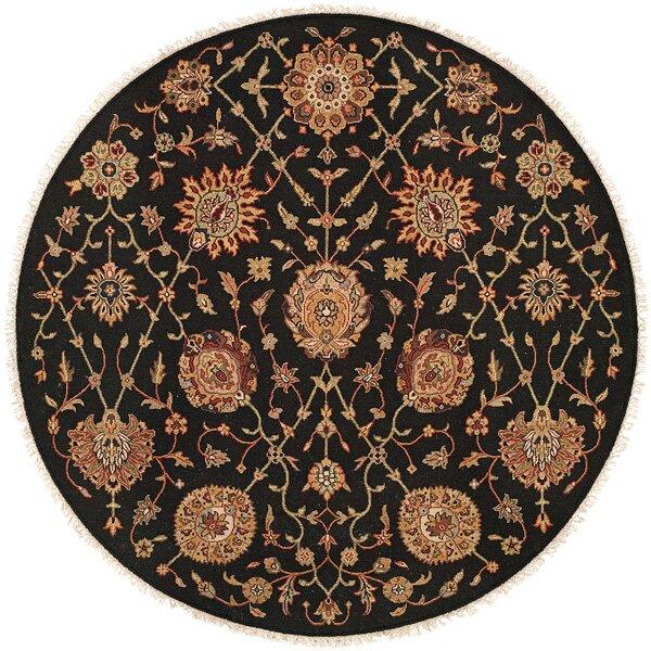 San Lorenzo Hand-Woven Black/Brown Area Rug by Wildon Home