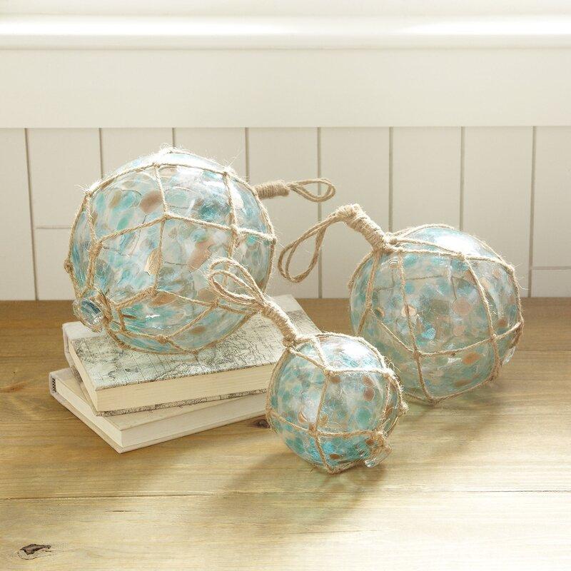 Millicent Recycled Glass Decor Sculpture Reviews Birch Lane