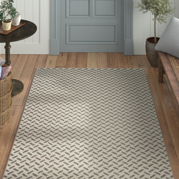 Billie Hand-Tufted Gray/Ivory Area Rug by Laurel Foundry Modern Farmhouse